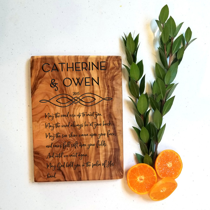 Couple Themed Irish Blessing Charcuterie Board - Wedding Gift, Engagement and Housewarming