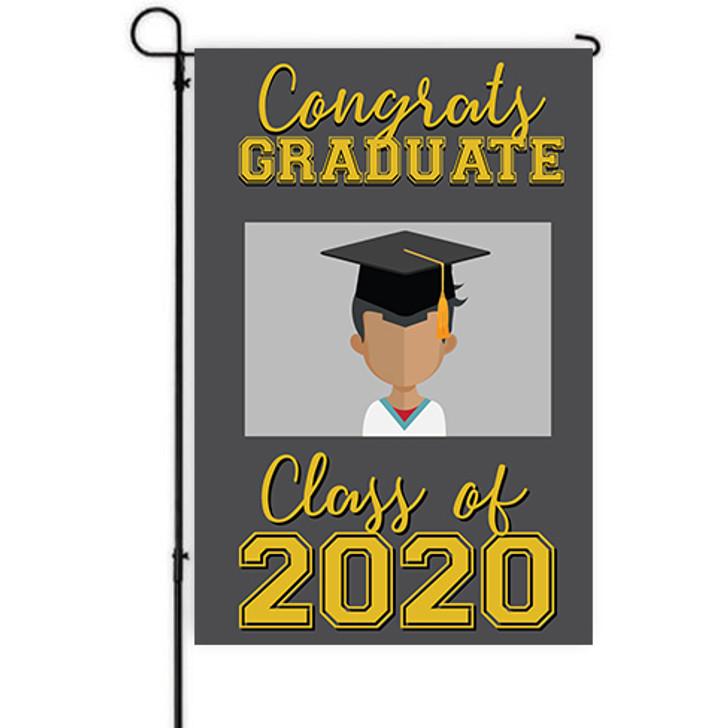 Varsity Graduation Yard Decor Banner with Custom Image