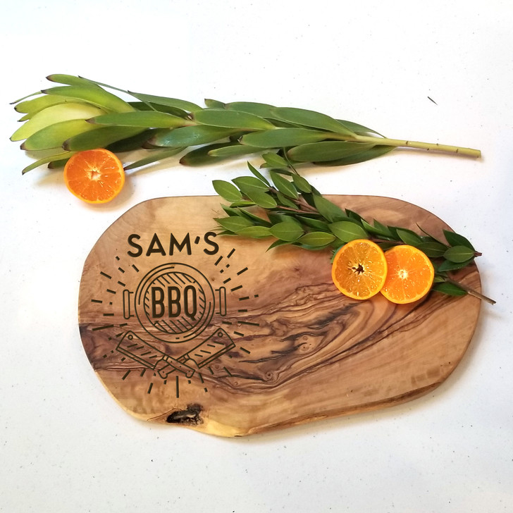 Personalized Barbeque Charcuterie Board - Personalized Engraved Bread Board