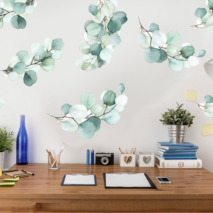 Eucalyptus Watercolor Wall Decal Set