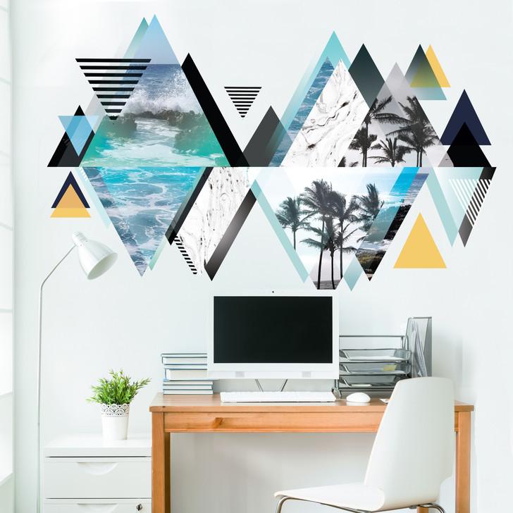 Kaleidoscope Beach Wall Decal Mural