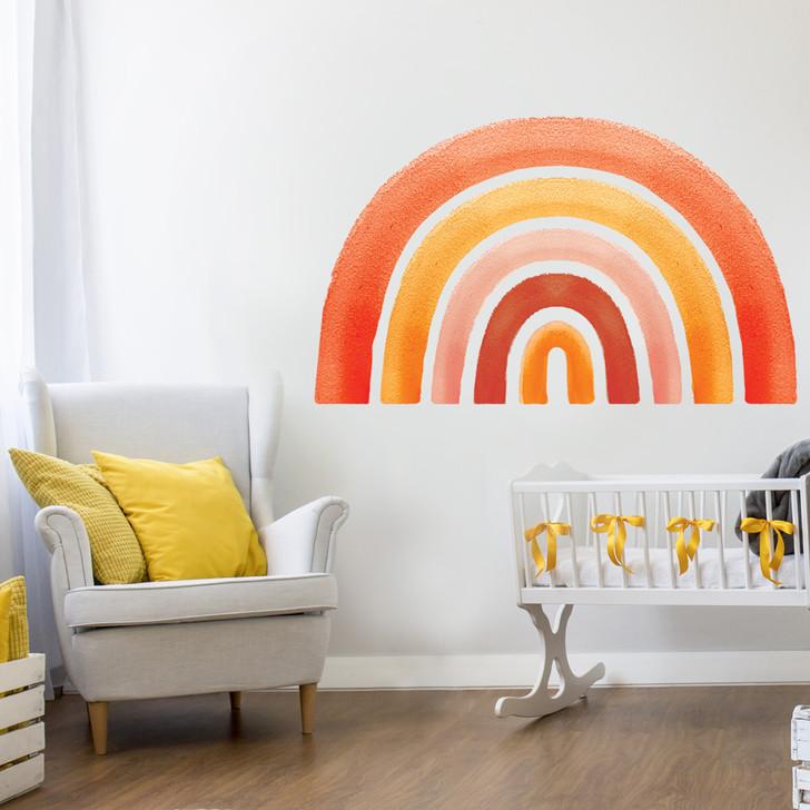 Retro Rainbow Watercolor Wall Decal Kit