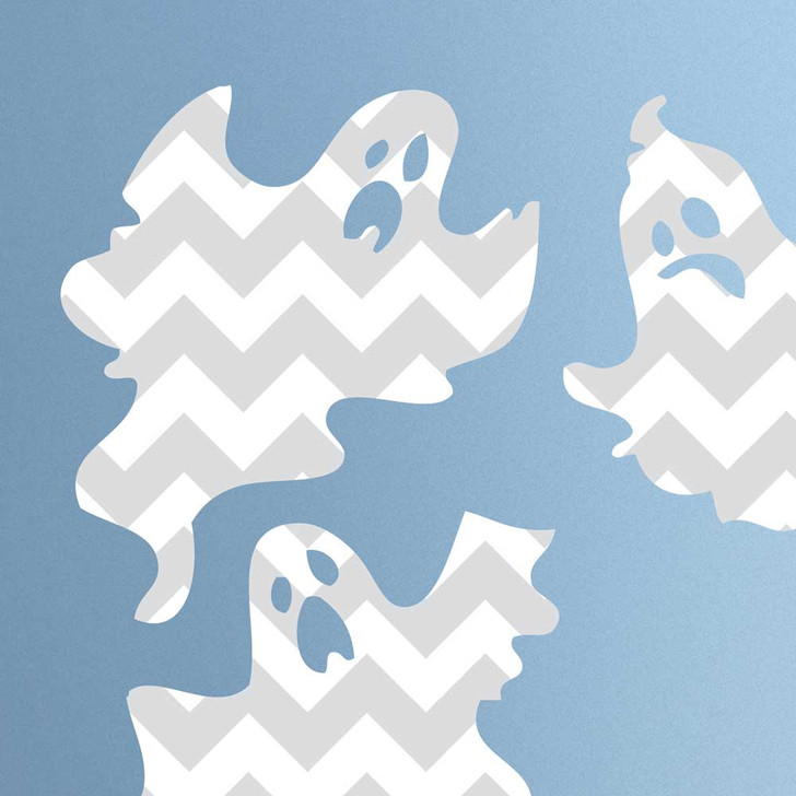 Chevron Ghost Wall Decal Set by Chromantics