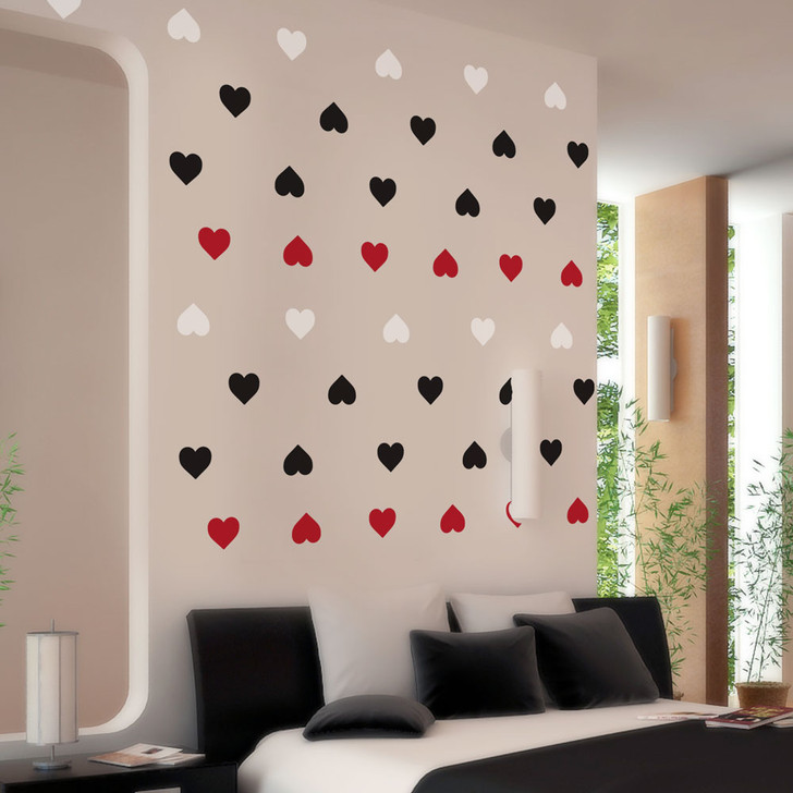 Red, White & Black Heart Decal Set by Chromantics