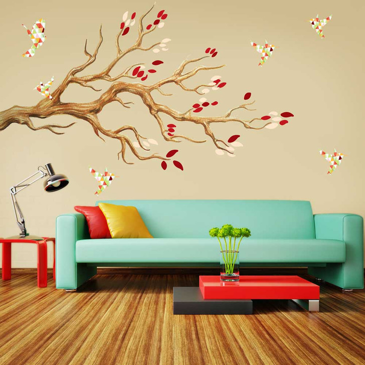 Autumn Tree Watercolor Wall Decal Set by Chromantics