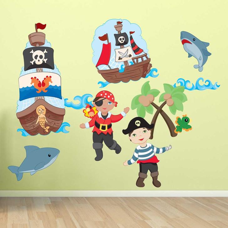 Pirates Paradise Wall Decal Set by Chromantics