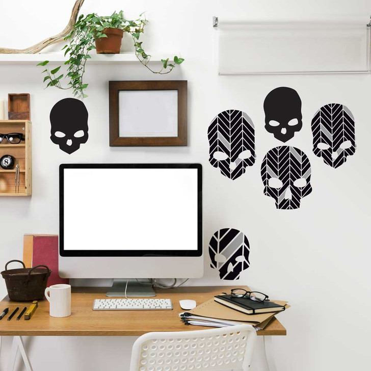 Herringbone Skulls Wall Decal Set by Chromantics