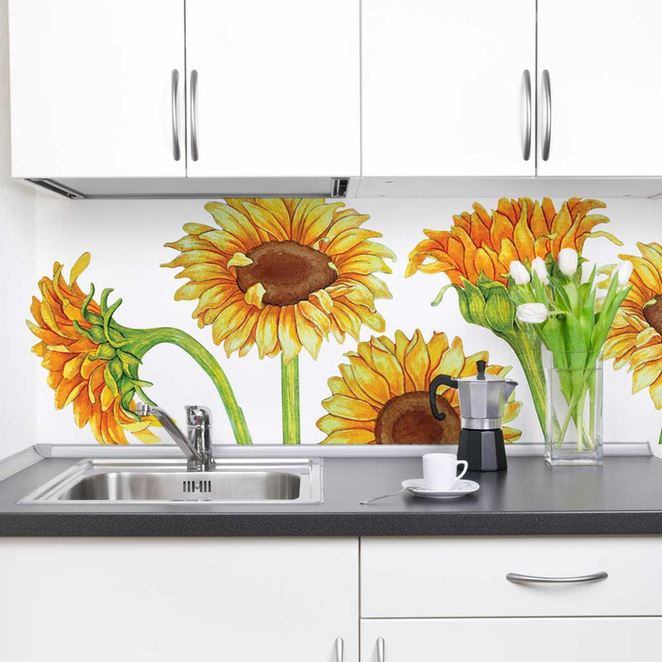 Sunflower Watercolor Wall Decal Set by Chromantics
