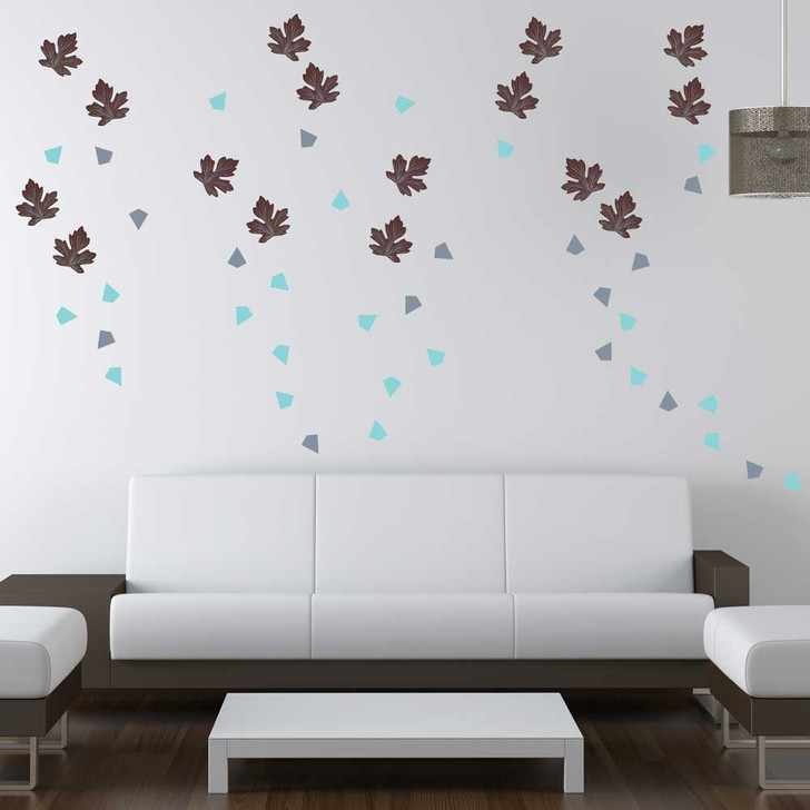 Falling Leaves Wall Decal Set by Chromantics