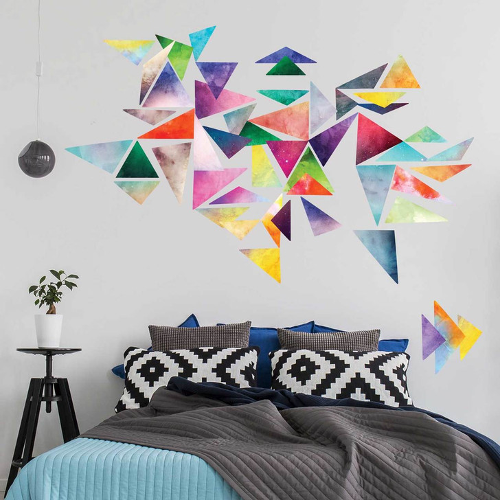 Watercolor Triangle Wall Decal Kit - Create Your Own Geometric Wall Mural by Chromantics