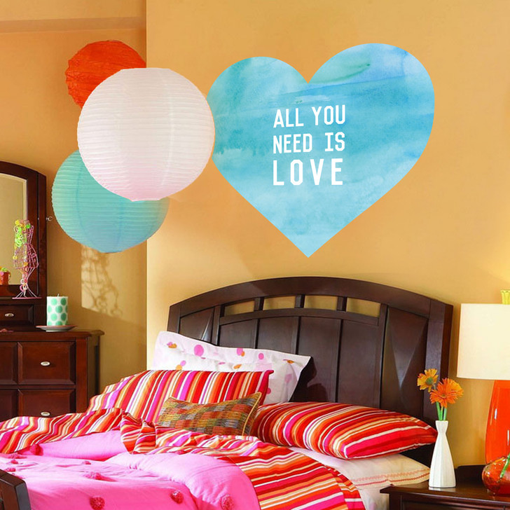 All You Need Is Love Wall Decal by Chromantics