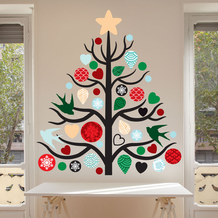 Christmas Tree Wall Decal Set by Chromantics