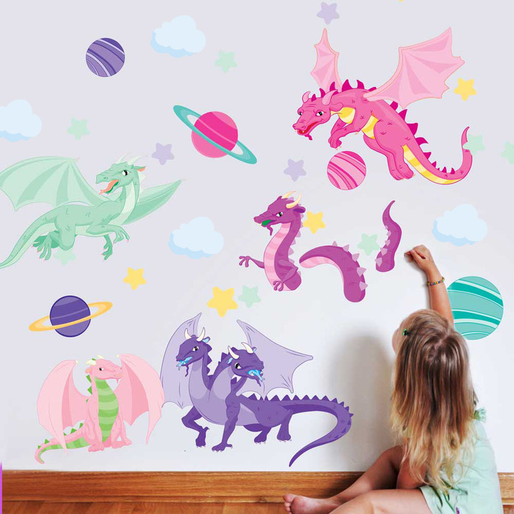 Astro Dragons Wall Decal Set by Chromantics