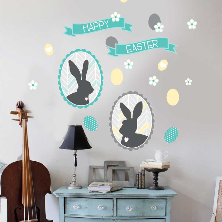 Happy Easter Wall Decal Set by Chromantics