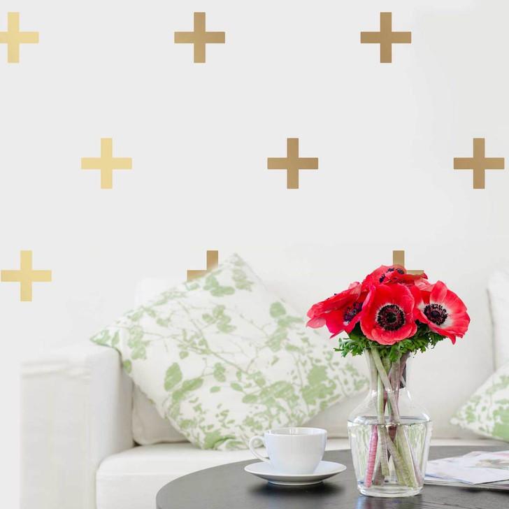 Criss Cross Golden Decal Set by Chromantics