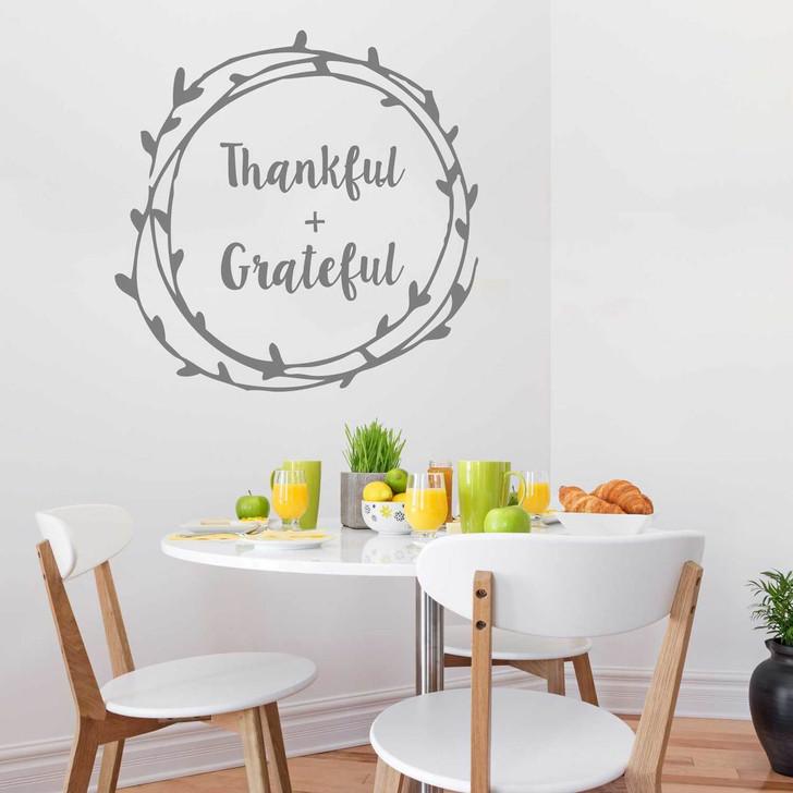 Thankful + Grateful Laurel Decal Set by Chromantics