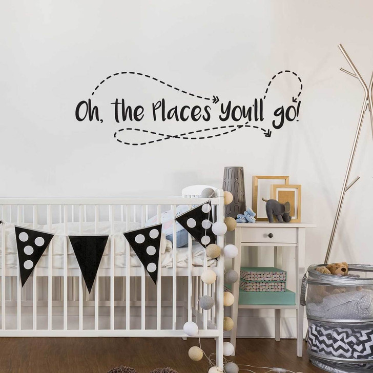 Oh the Places You'll Go Wall Decal by Chromantics