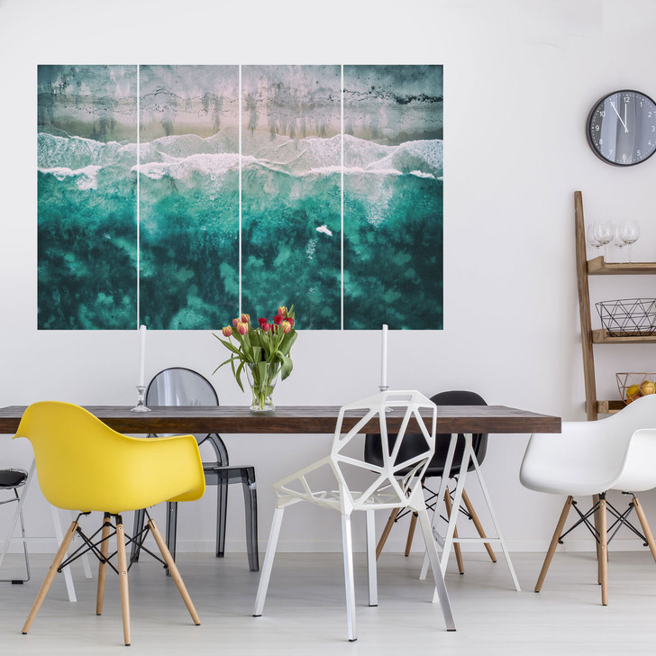 Aerial Sea Multi-Panel Wall Decal by Chromantics