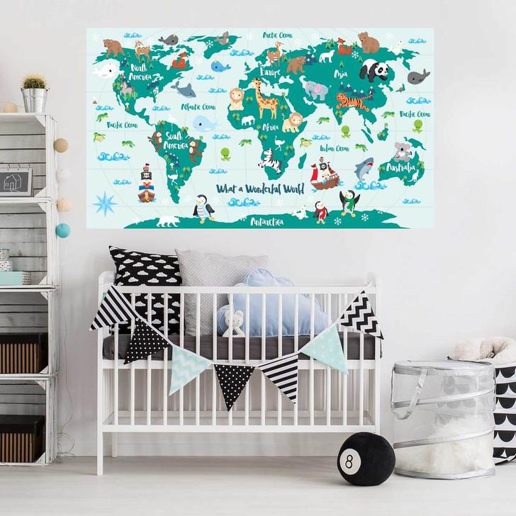 What a Wonderful World Map Decal by Chromantics