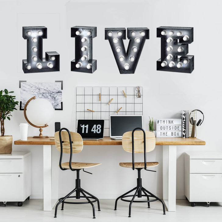 Live Marquee Wall Decal by Chromantics