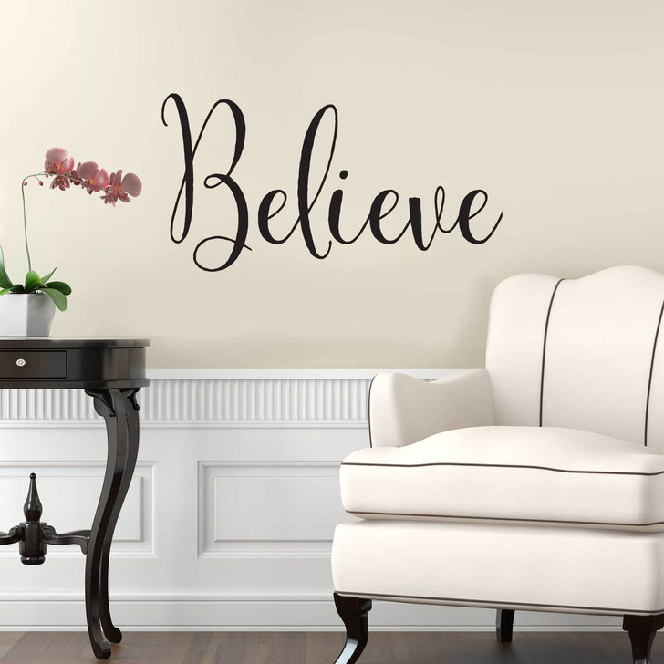 Believe Wall Quotation Decal by Chromantics