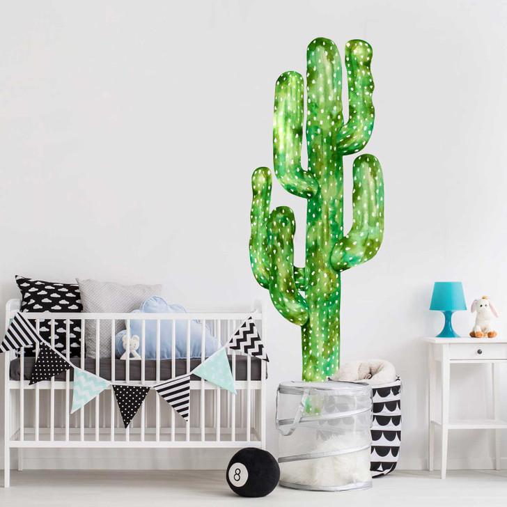 Saguaro Cactus Watercolor Wall Decal Sticker Mural