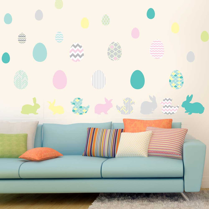 Easter Egg Wall Decal Set by Chromantics