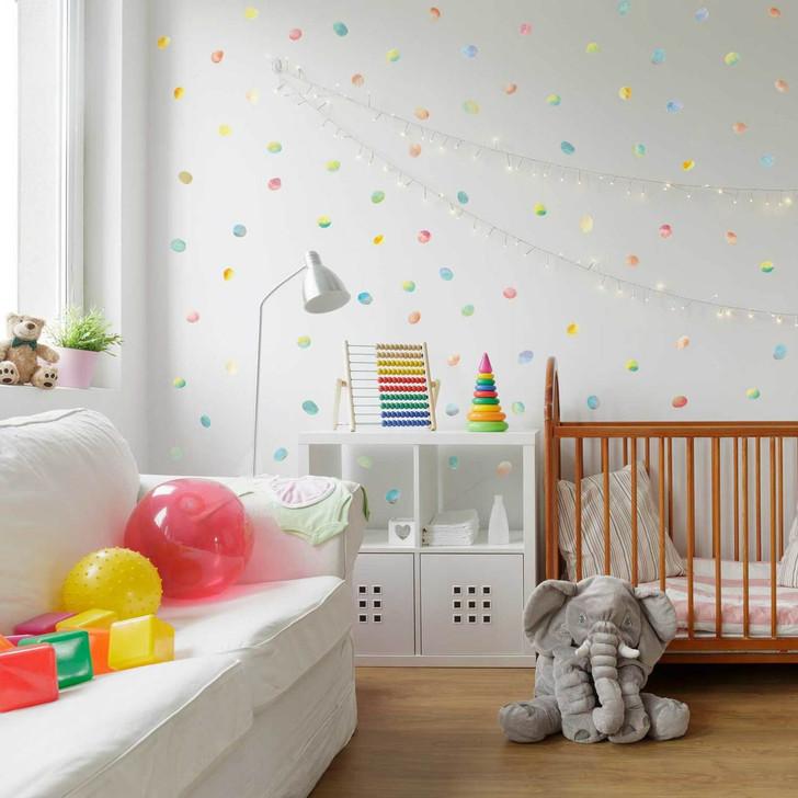 Watercolor Dot Wall Decal Kit by Chromantics