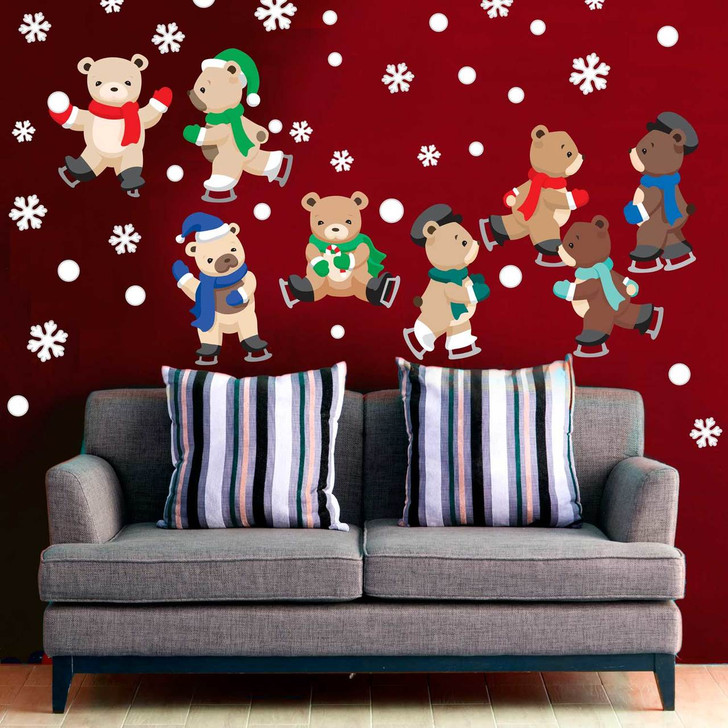 Ice skating Bears Wall Decal Kit by Chromantics