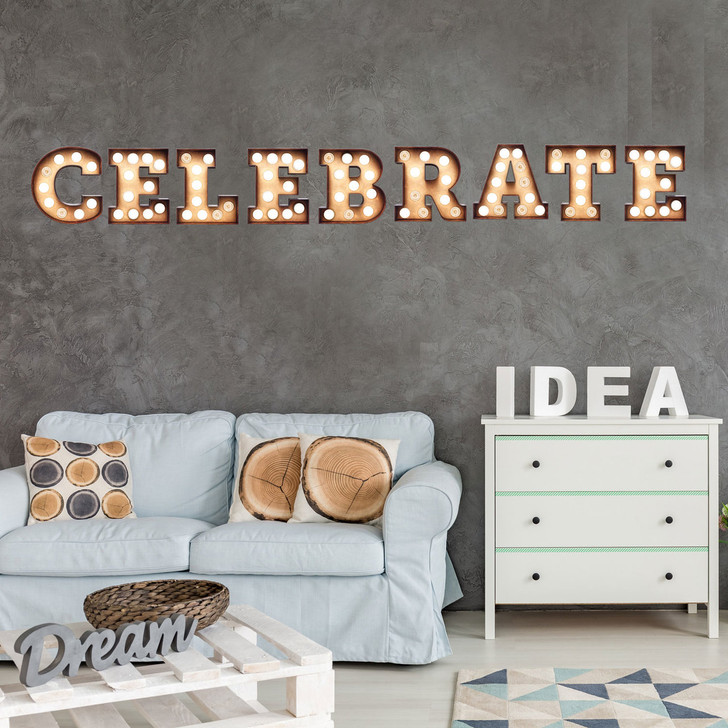 Celebrate Marquee Wall Decal by Chromantics