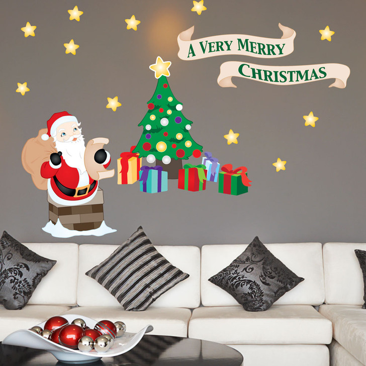 A Very Merry Christmas Wall Decal Set by Chromantics