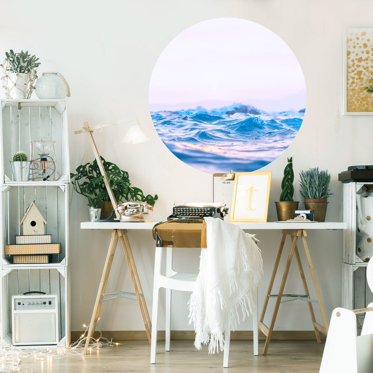 Pastel Sea Scene Wall Mural by Chromantics