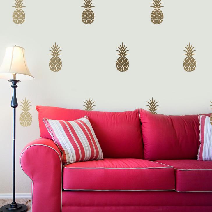 Golden Pineapple Decal Set by Chromantics