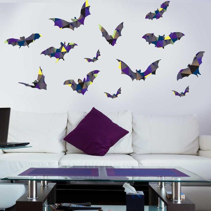 Patterned Bats Wall Decal Set by Chromantics