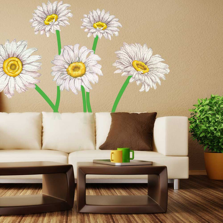 Daisy Watercolor Wall Decal Set by Chromantics
