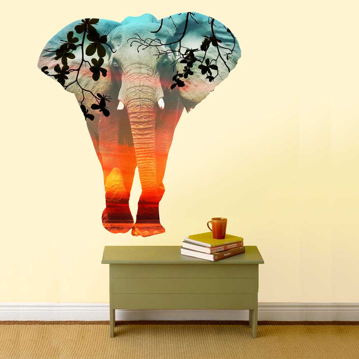 Double Exposure Elephant Wall Decal by Chromantics