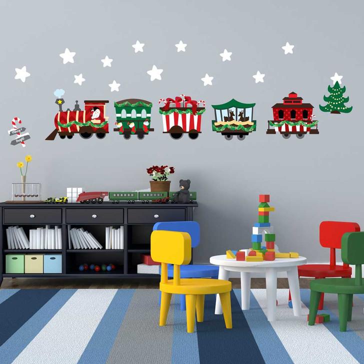 Christmas Train Wall Decal Set by Chromantics