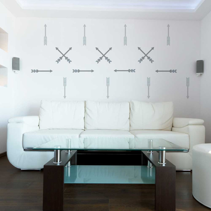 Straight Arrow Wall Decal Set by Chromantics