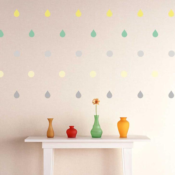 Drops & Dots Wall Decal Kit by Chromantics