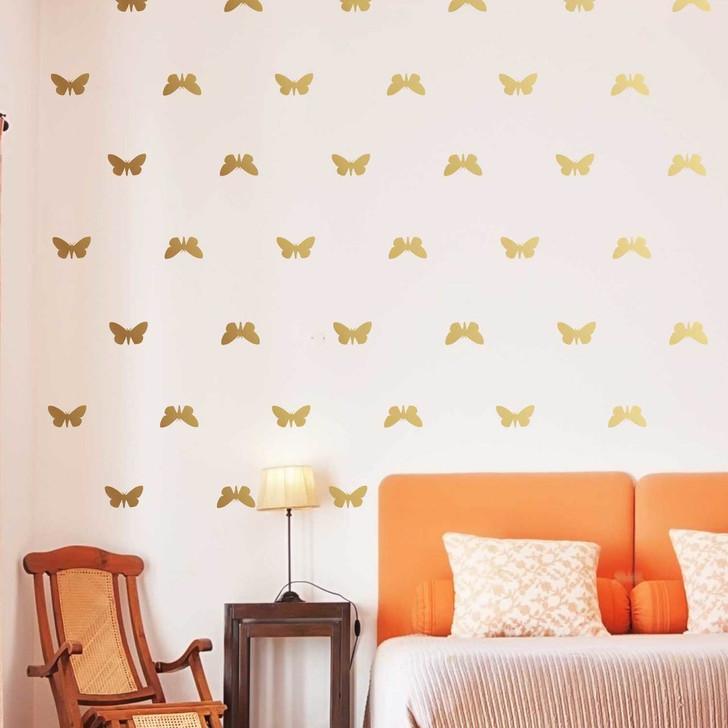 Golden Butterfly Decal Set by Chromantics