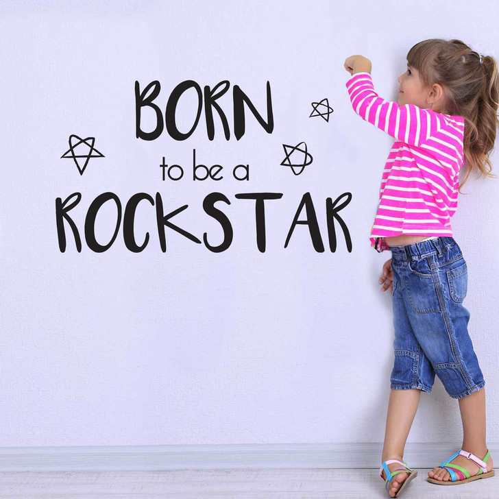 Born To Be A Rockstar Wall Decal Quote by Chromantics