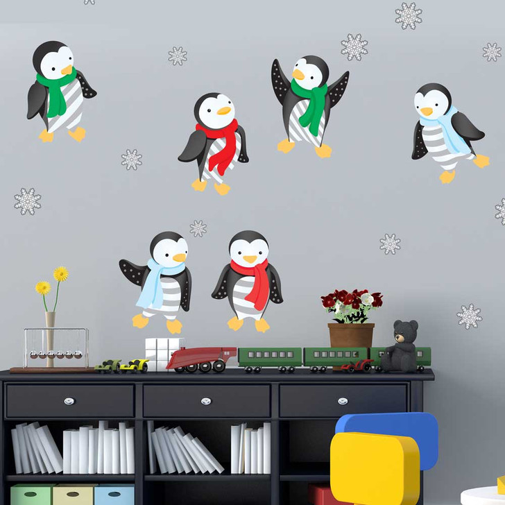 Winter Penguin Wall Decal Set by Chromantics