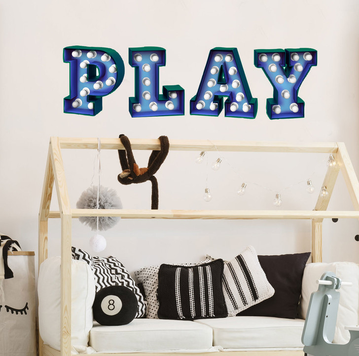 Play Marquee Wall Decal by Chromantics