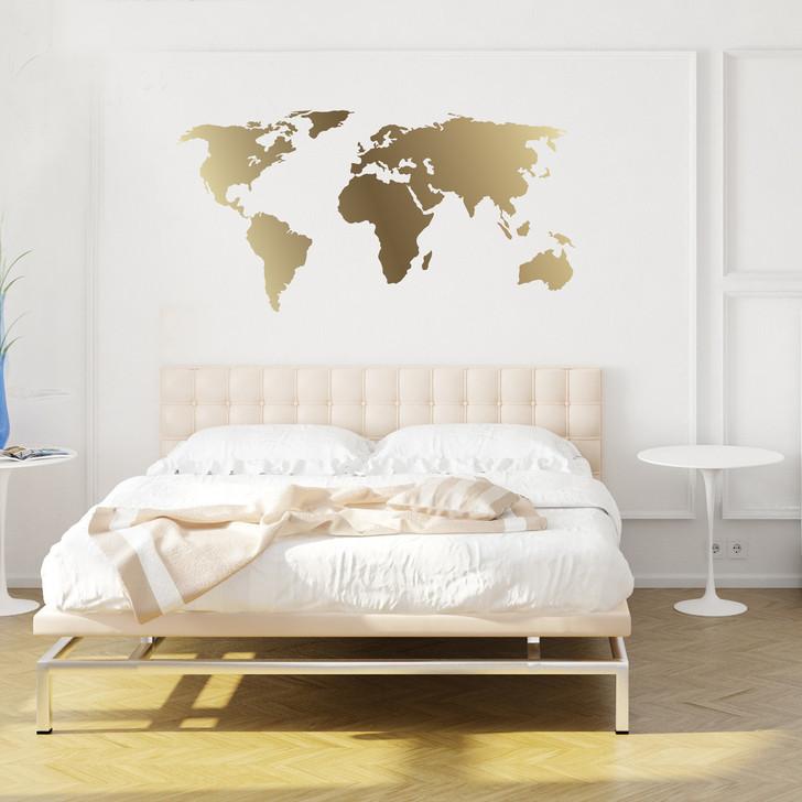 World Map Kiss Cut Decal by Chromantics