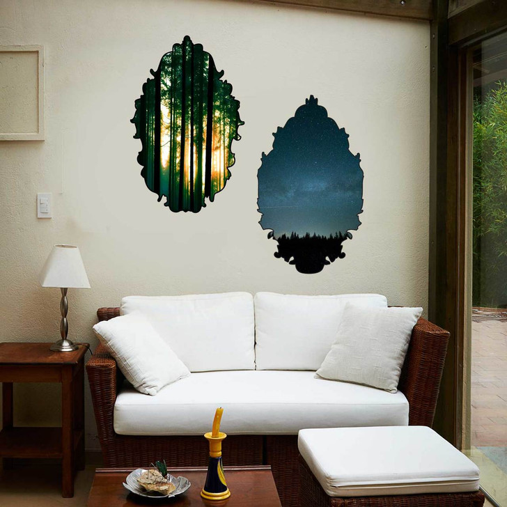 Framed Forest Wall Decal Set by Chromantics