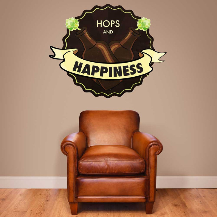 Hops & Happiness Wall Decal by Chromantics