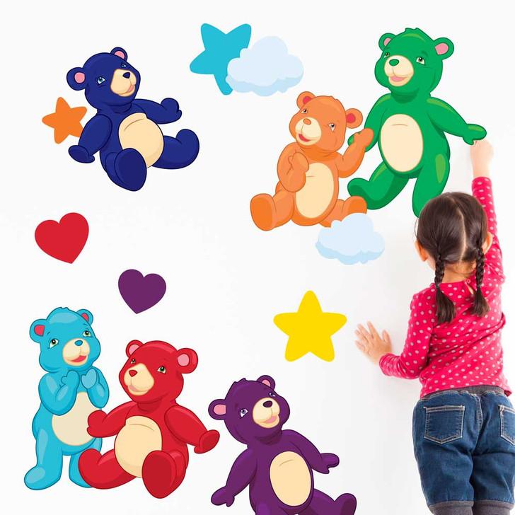 Rainbow Bears Wall Decal Set by Chromantics