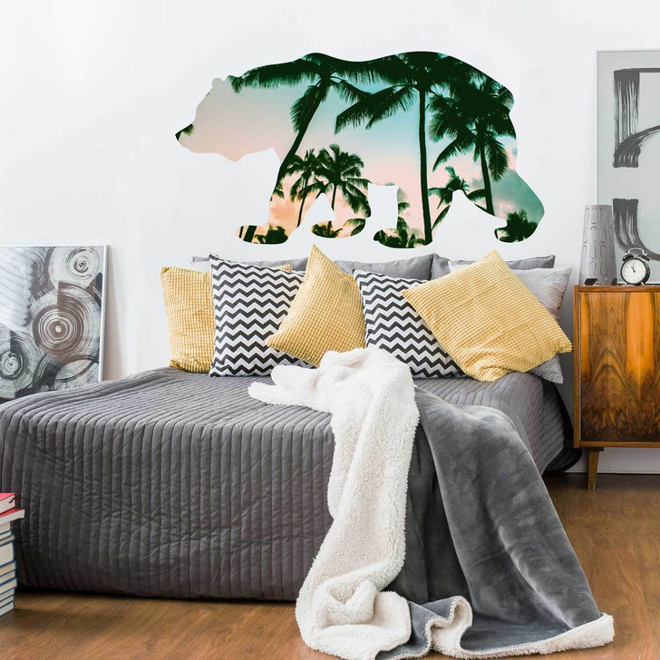 Beach Bear Tropical Wall Decal by Chromantics