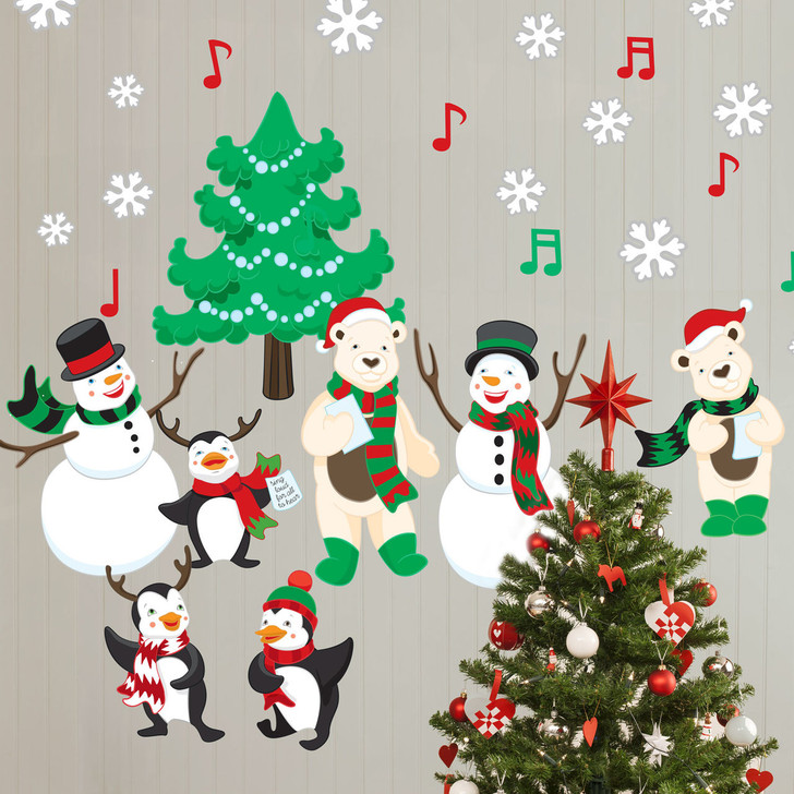 Christmas Cheer Holiday Carolers Wall Decal Kit by Chromantics