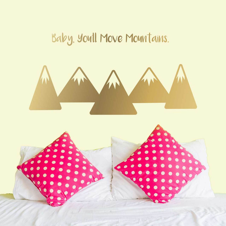 Baby, You'll Move Mountains Wall Decal Set by Chromantics